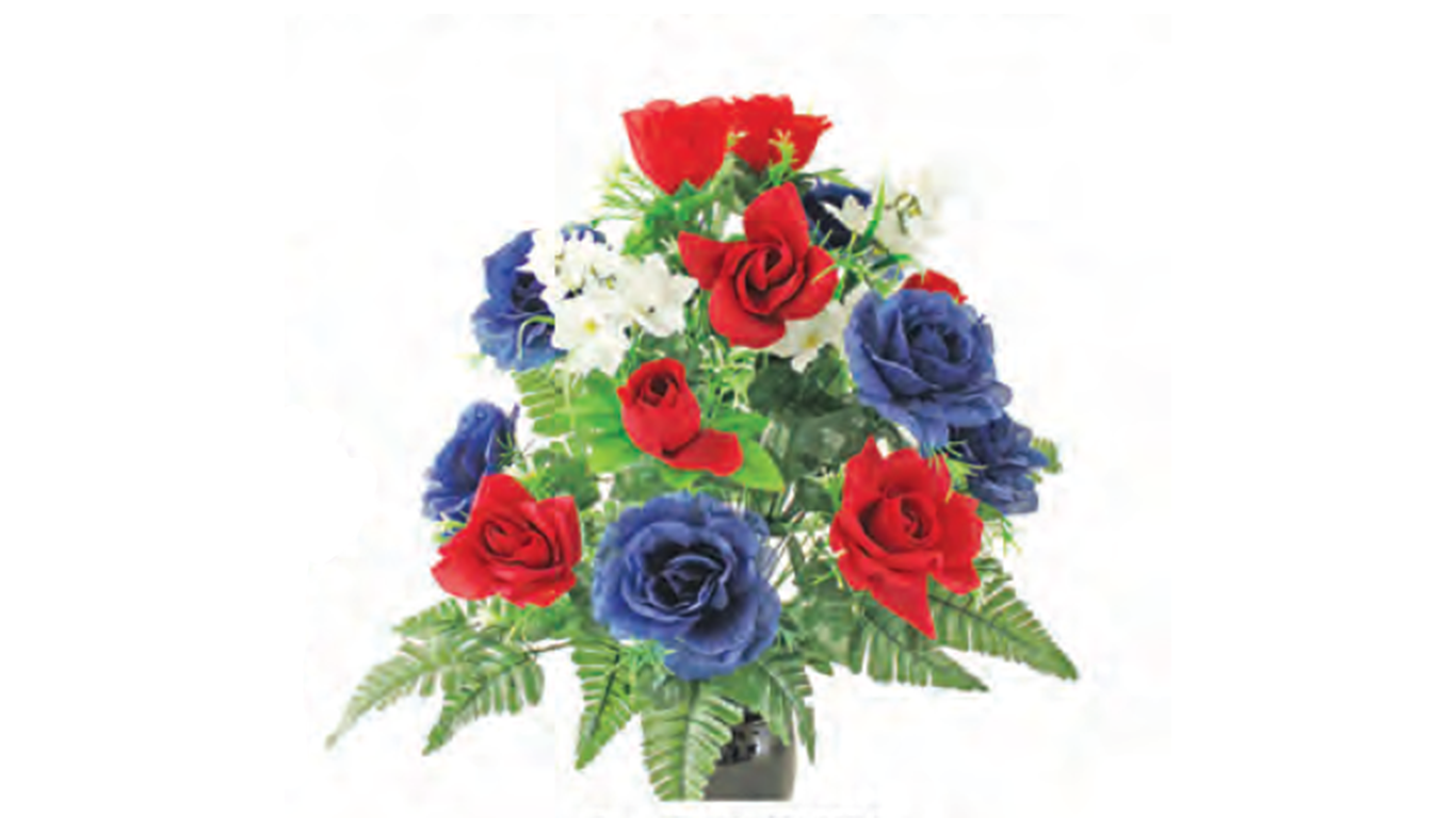 4th of july floral arrangement
