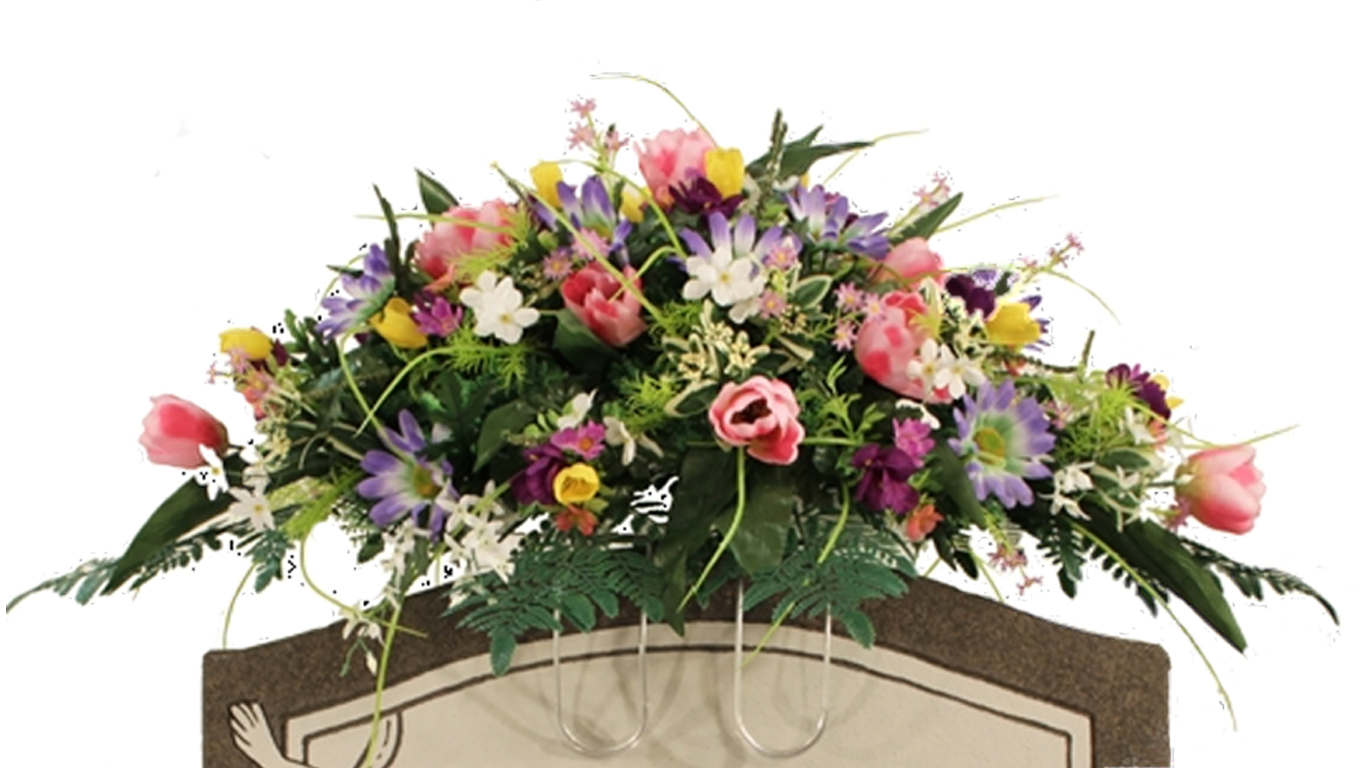 spring saddle floral arrangement